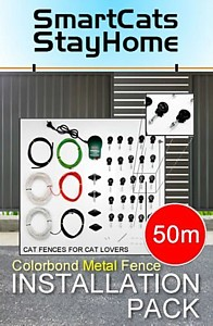 Cat fence for metal fence