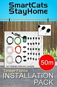 Cat fence kit for timber fence
